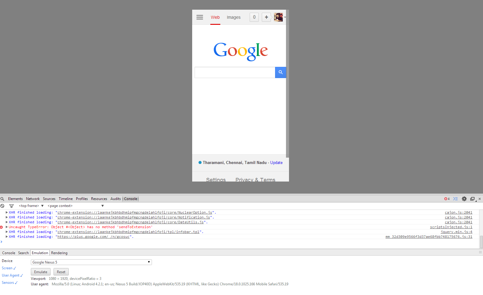 Emulating mobiles and tablets from Google Chrome (Viewing mobile